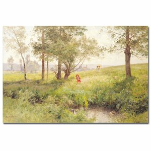 Landscape by Emile Isenbart Painting Print on Wrapped Canvas by Trademark Fine Art