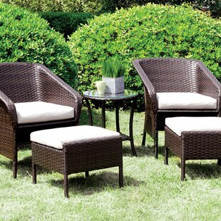 Belcher 5 Piece Rattan Sofa Set with Cushions By Latitude Run