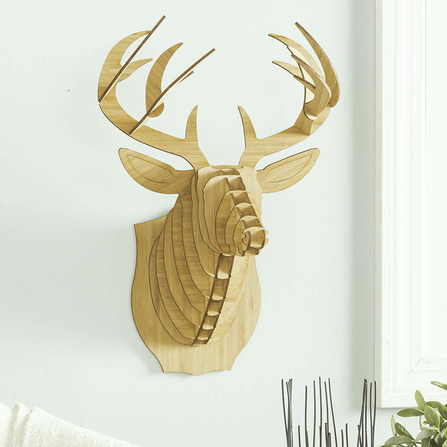 Antler Home Bucky the Bamboo Deer Head Wall Décor | Wayfair