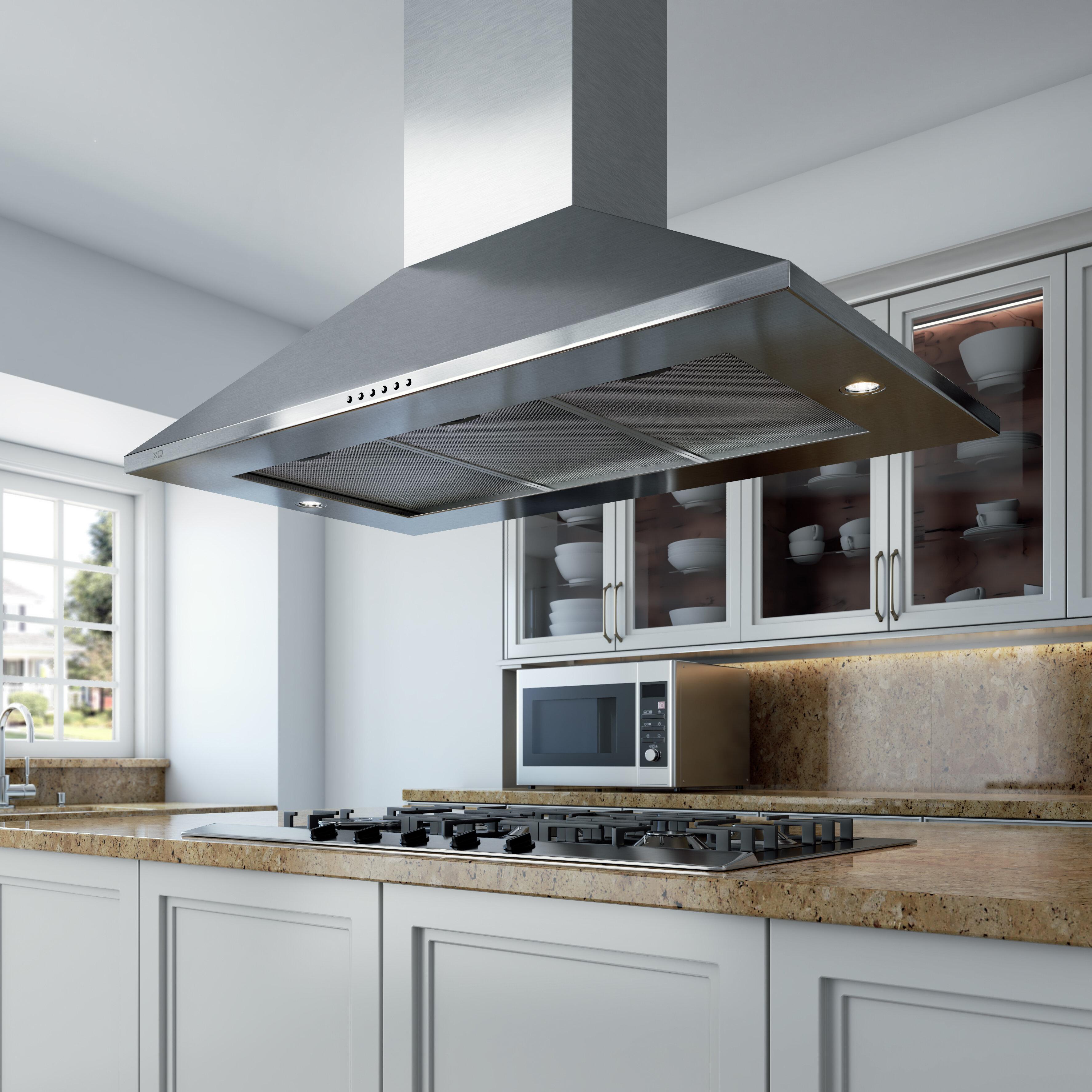 Xo Appliance 42 600 Cfm Convertible Island Range Hood Wayfair