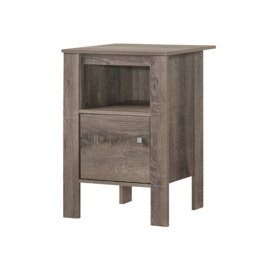 Haledon Side Table With Storage Ebern Designs Colour Taupe