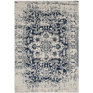 Loretta Cream/Navy Area Rug