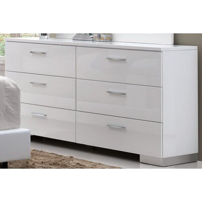 Dias 6 Drawer Double Dresser Orren Ellis
