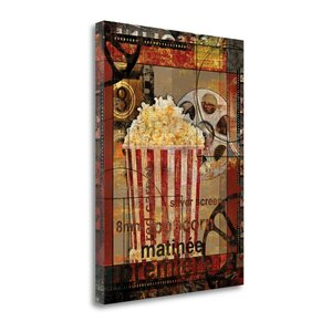 Movie Popcorn' Graphic Art Print on Canvas by Tangletown Fine Art