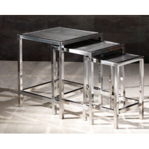 Papillion 3 Piece Nesting Table by Bloomsbur..