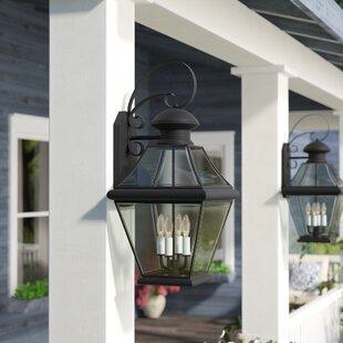 Best Wiedeman 1-Light Wall Lantern By Three Posts