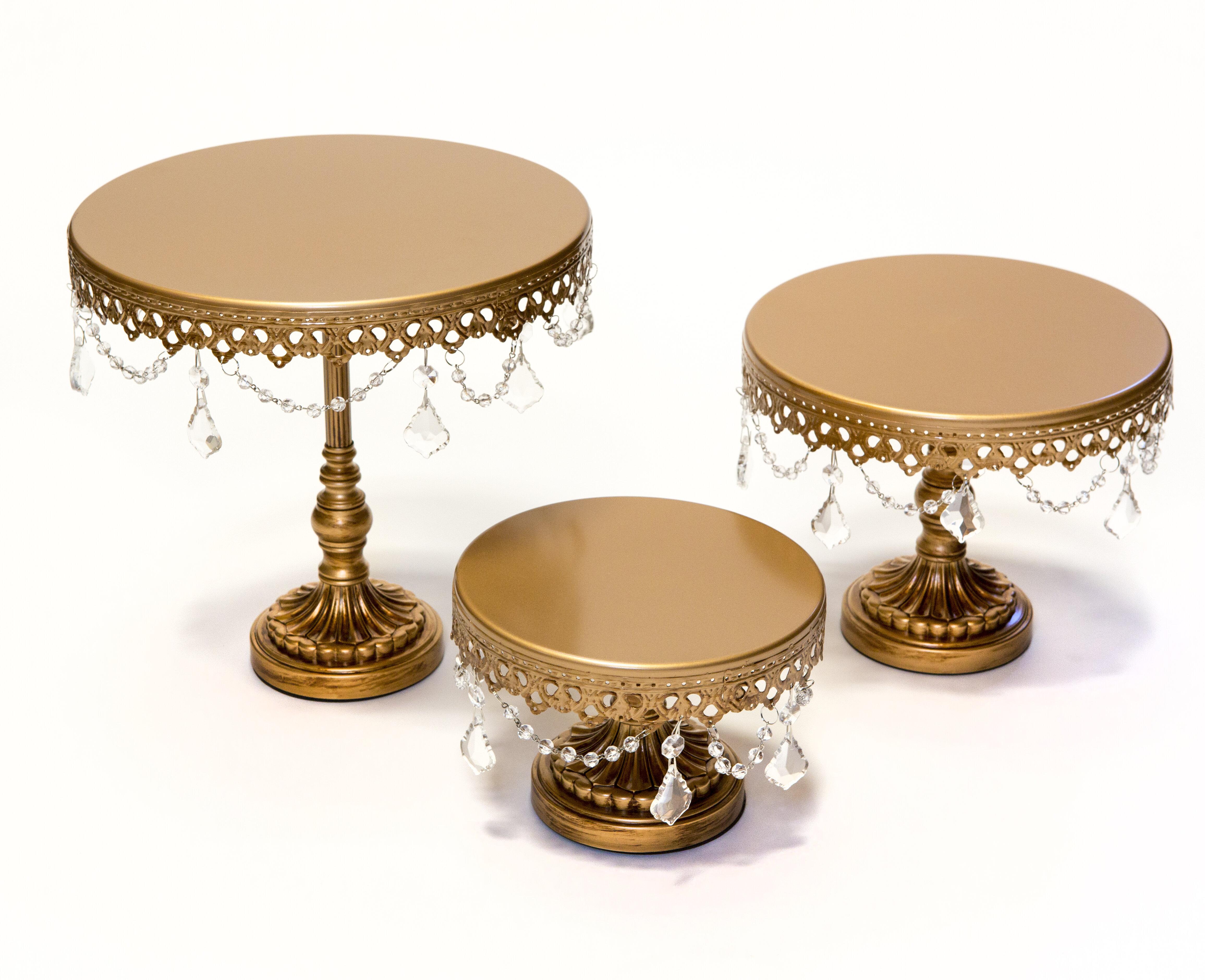 Opulent Treasures 3 Piece Chandelier Cake Plate Stand Set u0026 Reviews | Wayfair  sc 1 st  Wayfair & Opulent Treasures 3 Piece Chandelier Cake Plate Stand Set u0026 Reviews ...