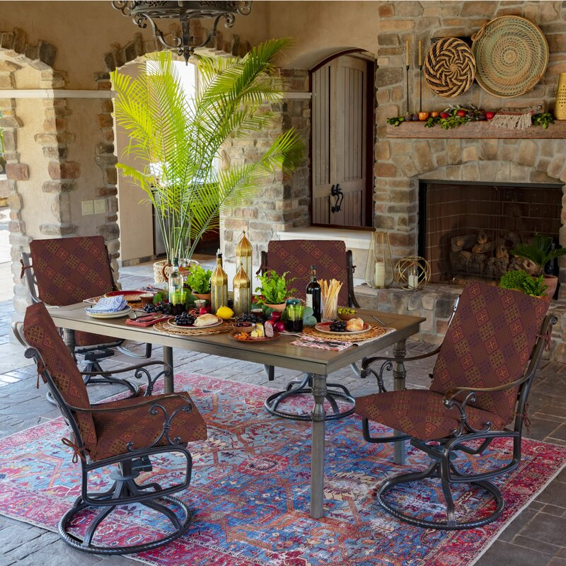Fleur De Lis Living Azulejo Southwest Outdoor Chair Cushion Wayfair