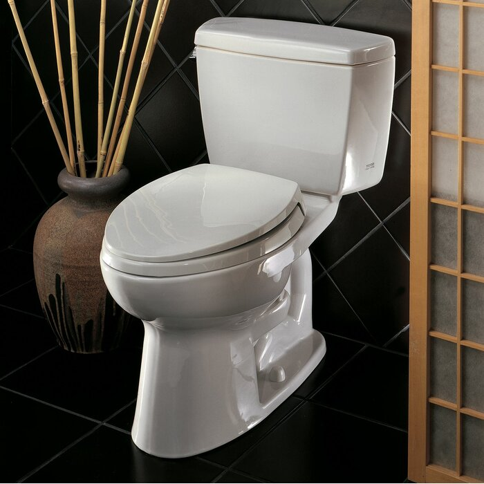 Drake 1 6 Gpf Elongated Two Piece Toilet With High Efficiency Flush Seat Not Included