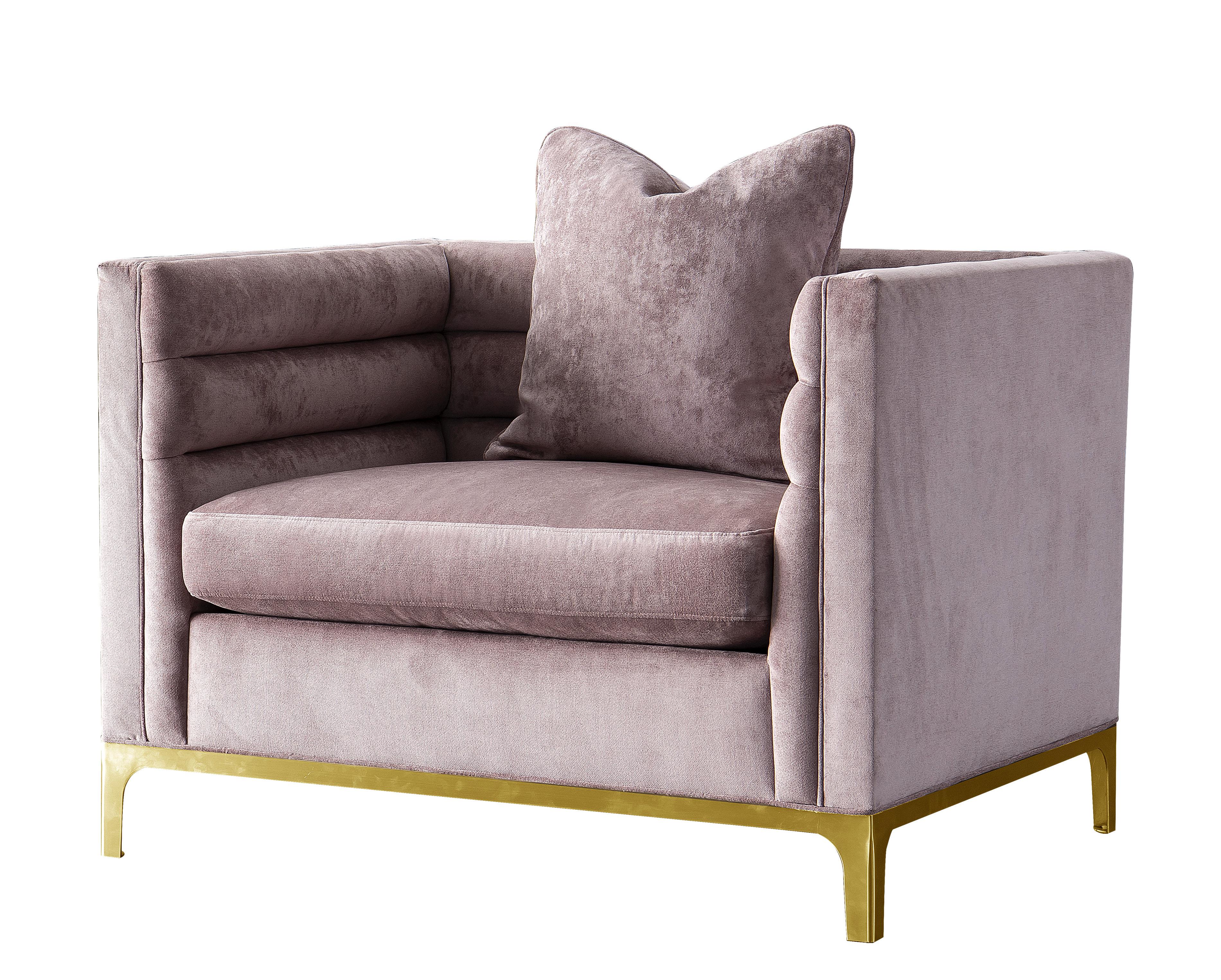 acanva modern tufted velvet down filled large armchair
