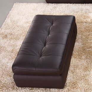 Sandrine Leather Cocktail Ottoman