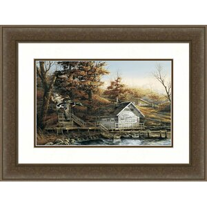 Autumn Shoreline by Terry Redlin Framed Painting Print by Hadley House Co