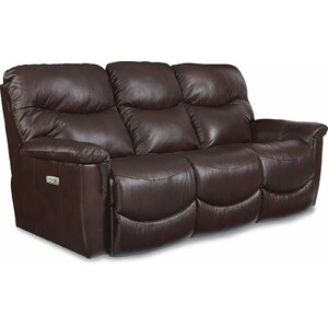 James LA-Z-TIME POWER-RECLINE Sofa with Power Headrest by La-Z-Boy