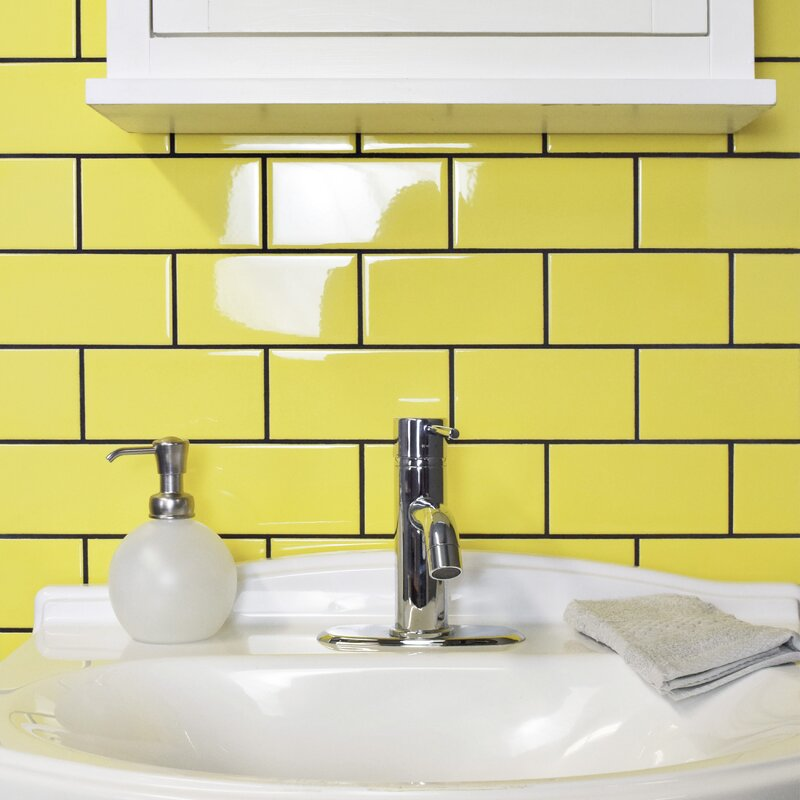 Prospect 3 X 6 Ceramic Subway Tile In Glossy Canary Yellow