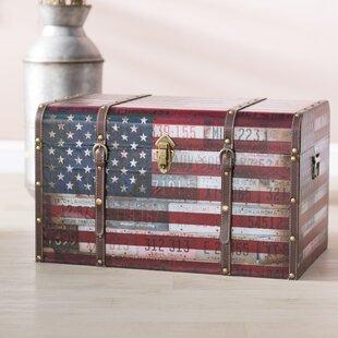 Sumner Americana Decorative Home Storage Trunk ByCharlton Home