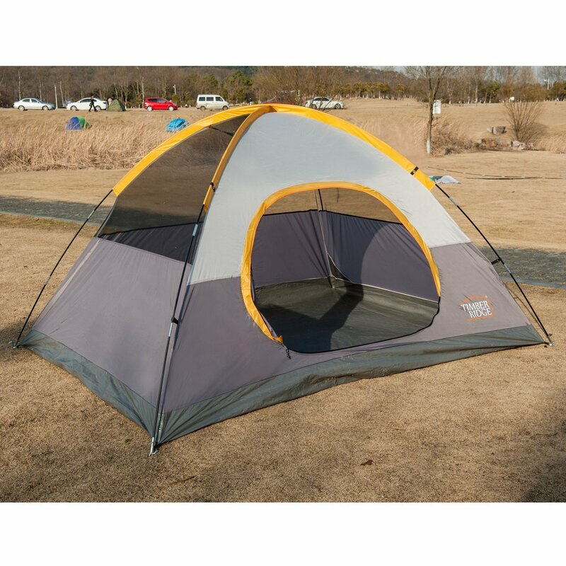 Lightweight Family C&ing 4 Person Tent  sc 1 st  Wayfair & Timber Ridge Lightweight Family Camping 4 Person Tent u0026 Reviews ...