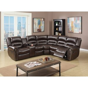 Reclining Sectional  sc 1 st  Wayfair : brown leather sectional with recliners - islam-shia.org