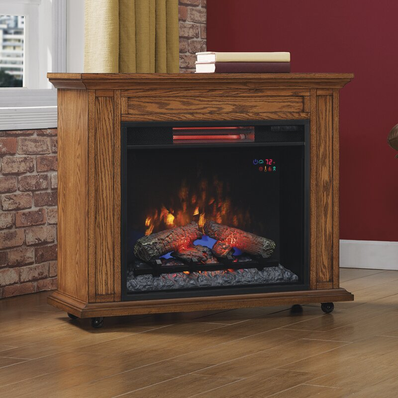 Twin Star Home duraflame® Rolling Mantel Electric Fireplace ...
