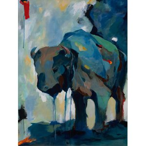 'Watercolor Buffalo' Painting Print on Wrapped Canvas by Latitude Run