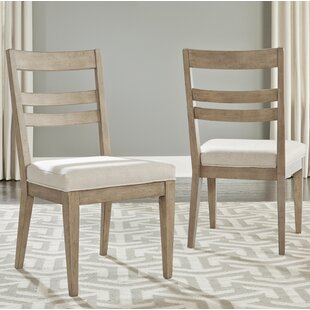 Amina Contemporary Slat Back Upholstered Dining Chair (Set of 2)
