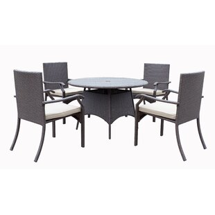Azusa 5 Piece Dining Set with Cushion By Darby Home Co