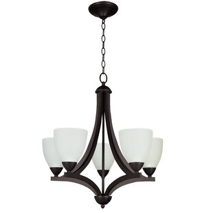 Best Review Alvah 5-Light Shaded Chandelier By Winston Porter