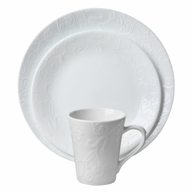 boutique bella faenza 16 piece dinnerware set service for 4