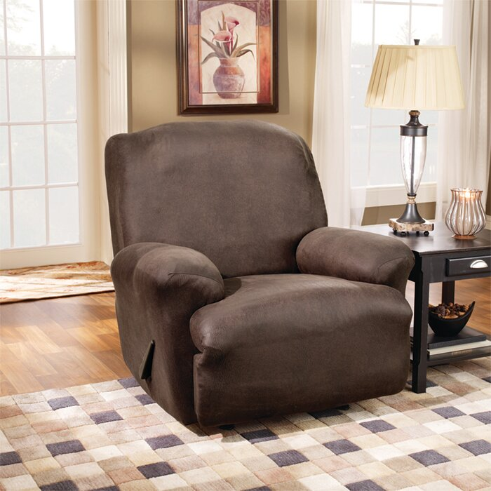 Sure Fit Stretch Leather T-Cushion Recliner Slipcover u0026 Reviews | Wayfair & Sure Fit Stretch Leather T-Cushion Recliner Slipcover u0026 Reviews ... islam-shia.org