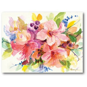 Dreamy Flowers Bouquet II Painting Print on Wrapped Canvas by Courtside Market