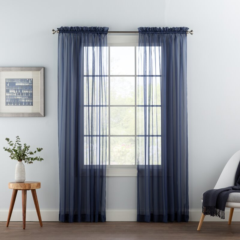 Wayfair Basics Solid Sheer Rod Pocket Curtain Panels