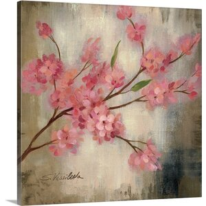 'Cherry Blossom I' by Silvia Vassileva Painting Print on Canvas by Canvas On Demand