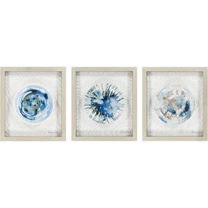 Steele 3 Piece Framed Painting Set by Wade Logan