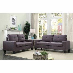 Platinum II Sofa & Loveseat In Gray Linen by Latitude Run®