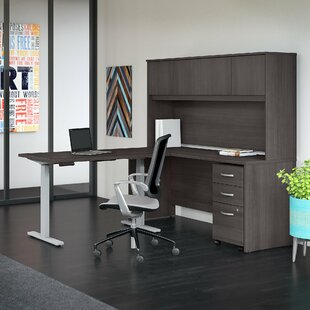 Studio C 4 Piece L-Shaped Desk Office Suite