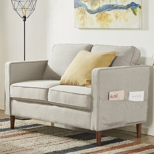 52.4 Square Arm Loveseat by Mellow