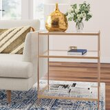 Janelle Glass Top End Table