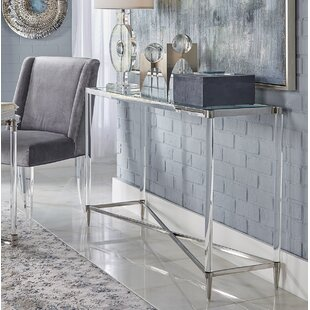 Belisso Acrylic and Stainless Steel Console Table By Nakasa