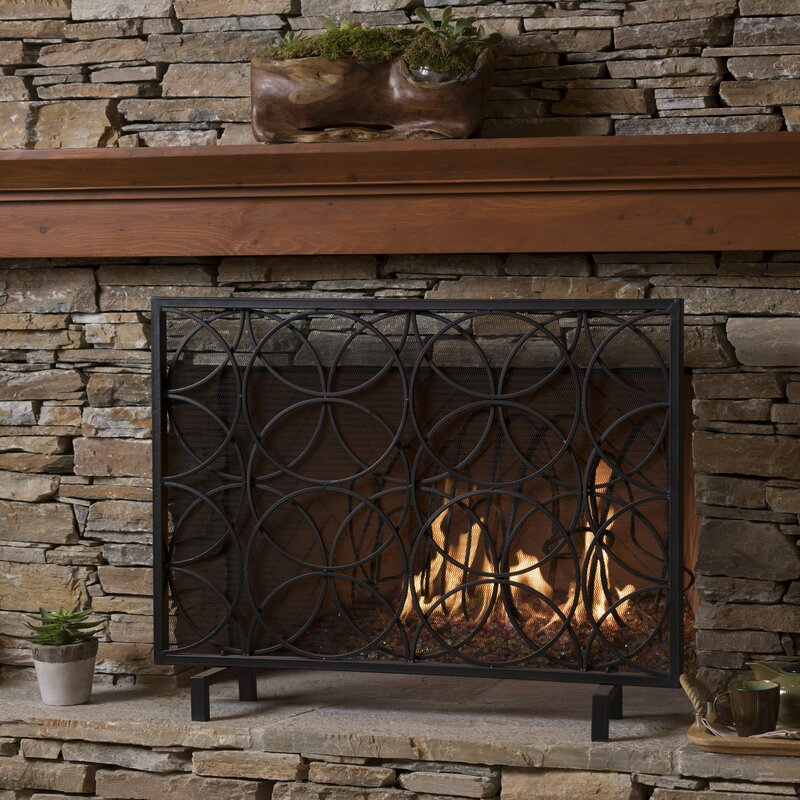 glass screen modern by iron for your west elm decoration decor fireplace cheap screens elegant