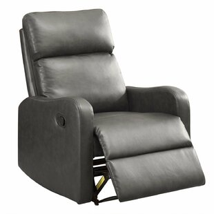 Grier Leather Manual Recliner by Winston Porter