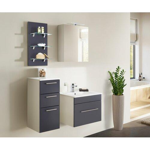 Viva 4-Piece Bathroom Furniture Set Belfry Bathroom Furniture Finish: Anthracite/White