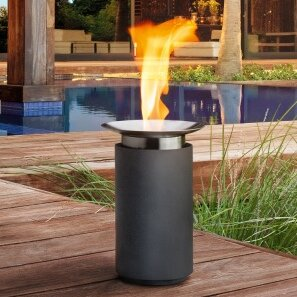 Blomus Luna Ceramic Gel Fire Column Amp Reviews Wayfair