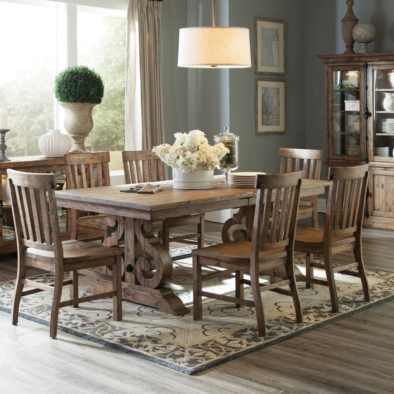 World Menagerie Devereaux Rectangular Dining Table & Reviews | Wayfair