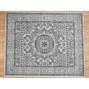 Inexpensive One-of-a-Kind Best Hand-Knotted 8'3 x 10' Wool Ivory/Black Area Rug By Isabelline