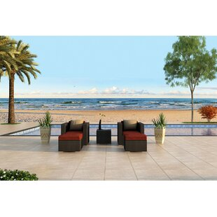 Azariah 5 Piece Sunbrella Conversation Set with Cushions By Orren Ellis