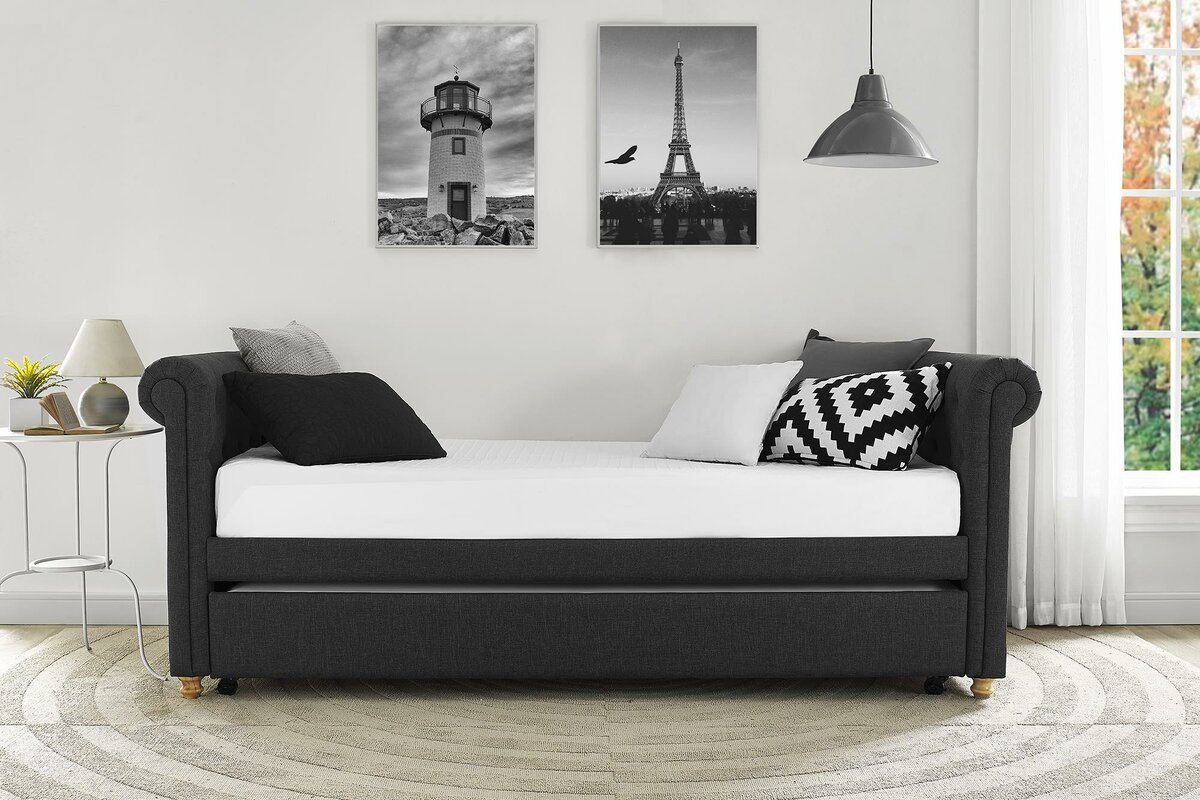 pcok daybed gray with tuxedo ac size homelegance savannah twin co day trundle adalie b fabric bed