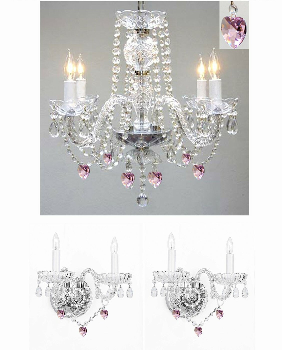 House Of Hampton Keefe 3 Piece Candle Style Chandelier And Wall Sconce Set Wayfair