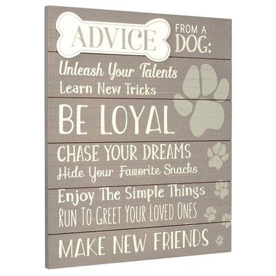 Advice From A Dog Wall Décor