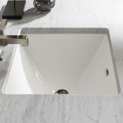 Waza Sultana Rectangular Undermount Bathroom Sink With Overflow