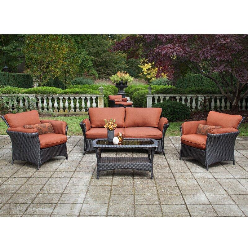 Billington 4 Piece Deep Seating Group With Cushion