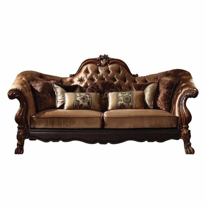 Sikeston Traditional Button Tufted Sofa